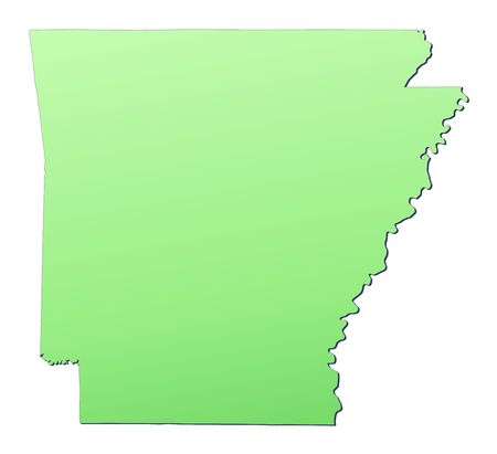 Arkansas USA Map Filled With Light Green Gradient High - Free high res fill in map of the us