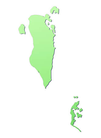 Bahrain map filled with light green gradient. High resolution. Mercator projection. photo