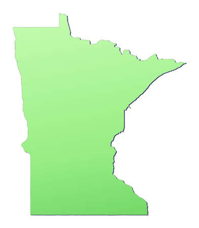 Minnesota (USA) map filled with light green gradient. High resolution. Mercator projection. photo
