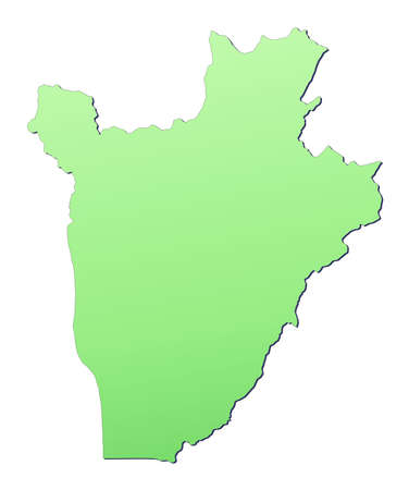 Burundi map filled with light green gradient. High resolution. Mercator projection. photo