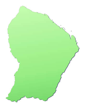 French Guiana map filled with light green gradient. High resolution. Mercator projection. photo