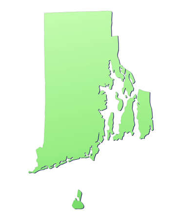 Rhode Island (USA) map filled with light green gradient. High resolution. Mercator projection. photo