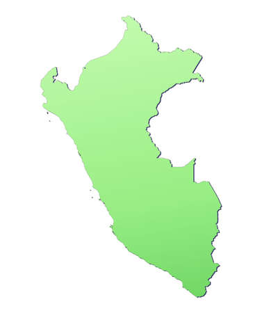 peru map: Peru map filled with light green gradient. High resolution. Mercator projection.