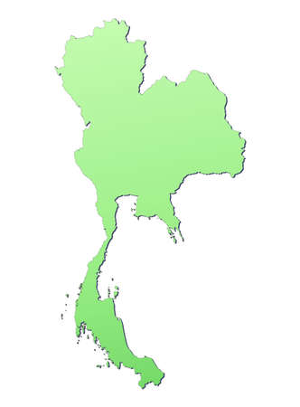 Thailand map filled with light green gradient. High resolution. Mercator projection. photo