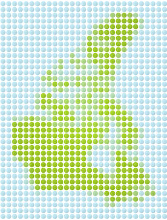 fill: Canada map dotted mosaic. Green and light blue dots.