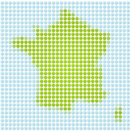 fill: France map dotted mosaic. Green and light blue dots.