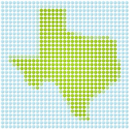 Texas map dotted mosaic. Green and light blue dots. photo