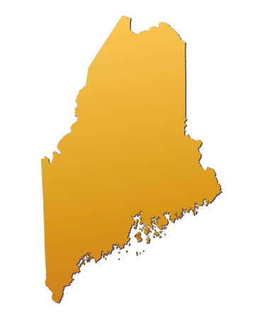 Maine (USA) map filled with orange gradient. Mercator projection. Stock Photo - 2743393