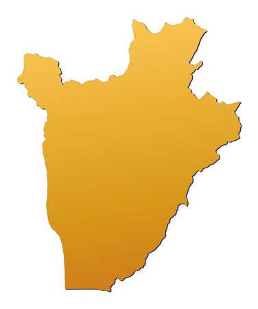 Burundi map filled with orange gradient. Mercator projection. photo