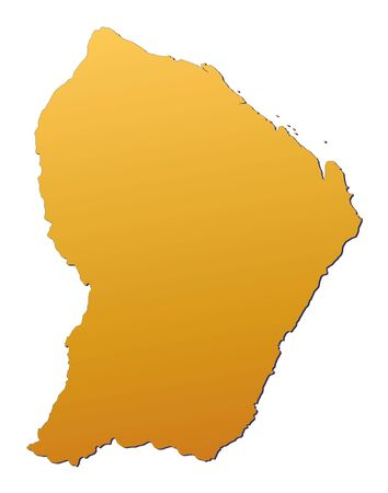 French Guiana map filled with orange gradient. Mercator projection. photo