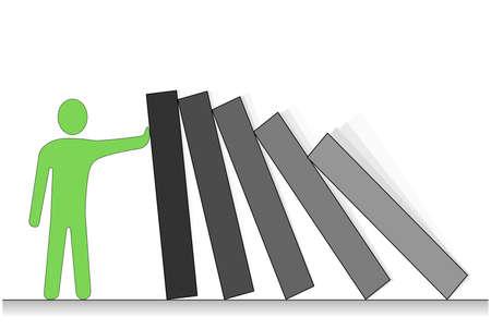 Troubleshooter. Simple conceptual illustration. Stock Illustration - 2818785