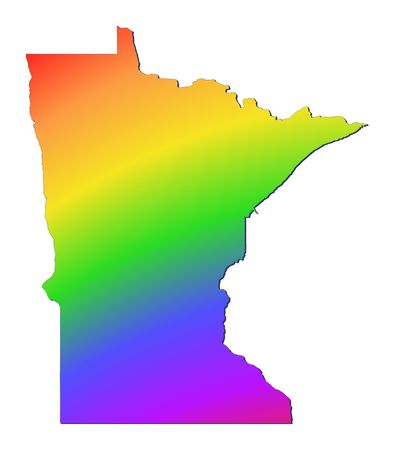 Minnesota map filled with rainbow gradient. Mercator projection. photo