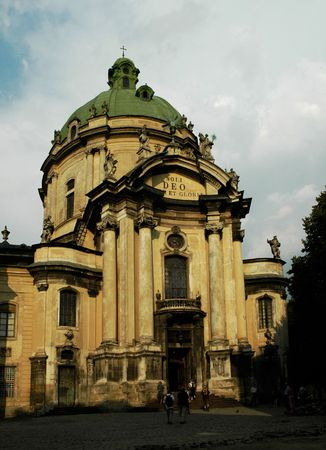 soli: Dominican church and monastery, Lviv, Ukraine. Located in old town.