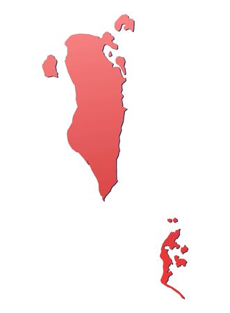 Bahrain map filled with red gradient. Mercator projection. photo