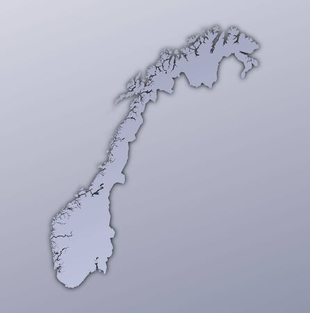 Norway map filled with metallic gradient. Mercator projection. Stock Photo - 2998794