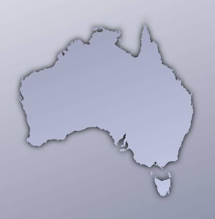 Australia map filled with metallic gradient. Mercator projection. Stock Photo - 2998760