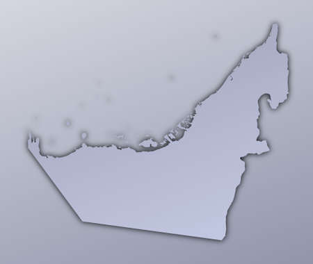 United Arab Emirates map filled with metallic gradient. Mercator projection. Stock Photo - 2998776