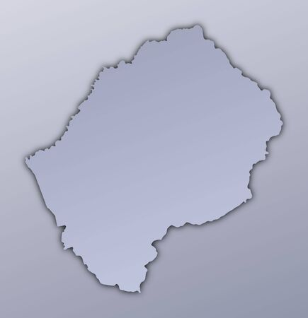 lesotho: Lesotho map filled with metallic gradient. Mercator projection.