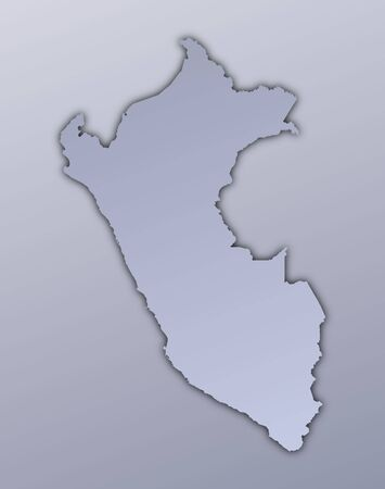 peru map: Peru map filled with metallic gradient. Mercator projection.