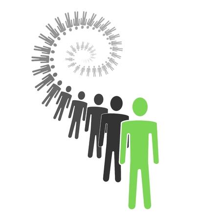 persoonlijke groei: spiraal persoonlijke groei conceptuele illustratie