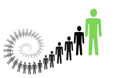 crecimiento personal: personal y el crecimiento de los negocios ilustración conceptual