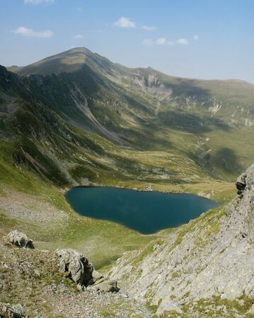 fagaras: lake in Fagaras mountains, Romania Stock Photo