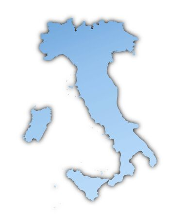 skyblue: Italy map light blue map with shadow. High resolution. Mercator projection.