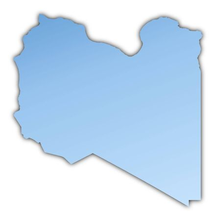 Libya map light blue map with shadow. High resolution. Mercator projection.
