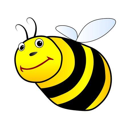 Flying bee illustration Stock Illustration - 3461943