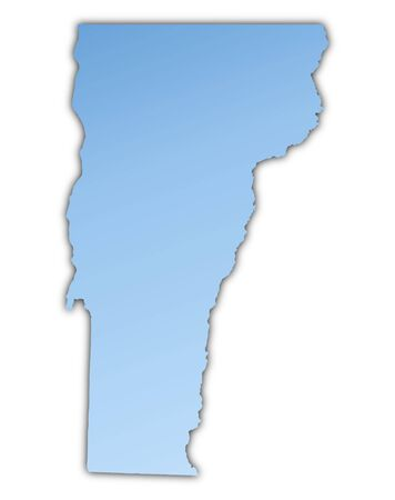 Vermont(USA) map light blue map with shadow. High resolution. Mercator projection.