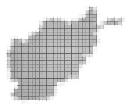 fill: Afghanistan map pixels mosaic. Easy to recolor.