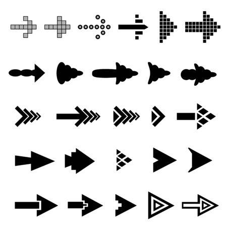 arrowhead: Set of 25 arrow shape variations