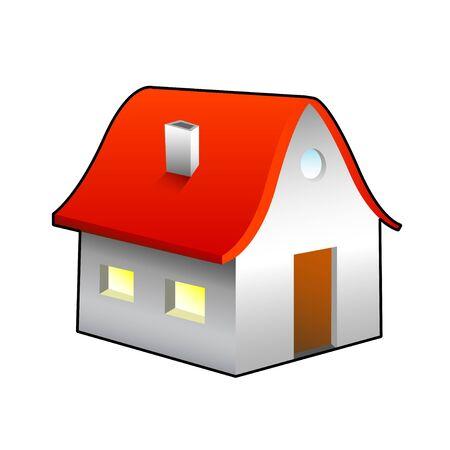 House icon illustration. Isolated on white background. illustration