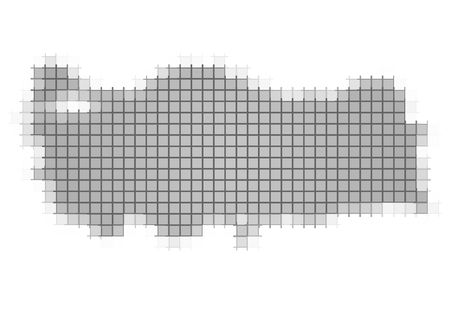 fill: Turkey map pixels mosaic. Easy to recolor.