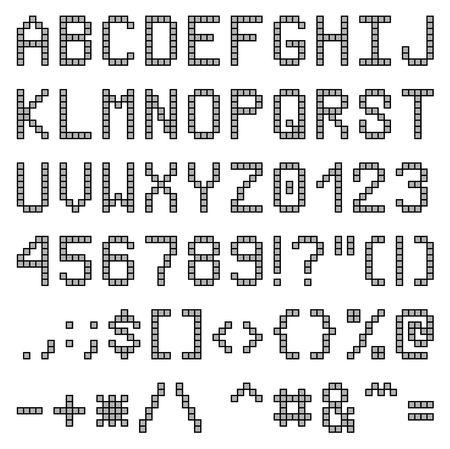 Uppercase letters pixel font photo