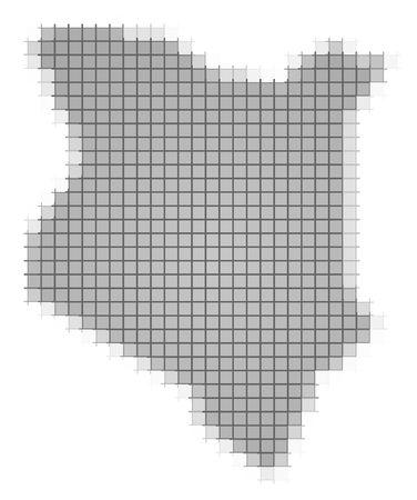 fill: Kenya map pixels mosaic. Easy to recolor.