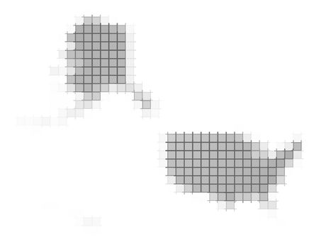 fill: United States map pixels mosaic. Easy to recolor. Stock Photo