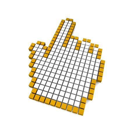 Computer hand cursor 3d rendered illustration illustration