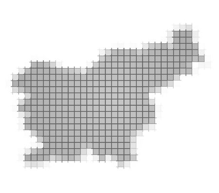 recolor: Slovenia map pixels mosaic. Easy to recolor.