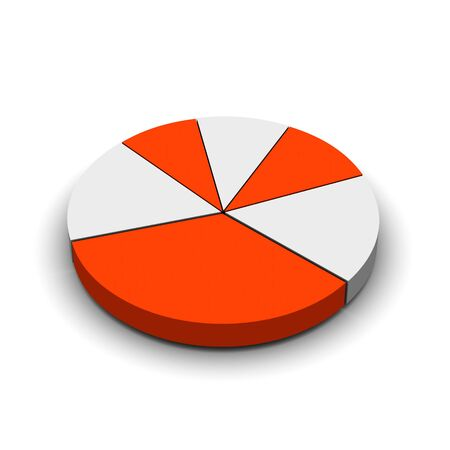 Pie graph 3d rendered illustration Stock Illustration - 3624972