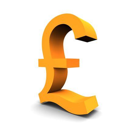 british money: Pound symbol 3d rendered image