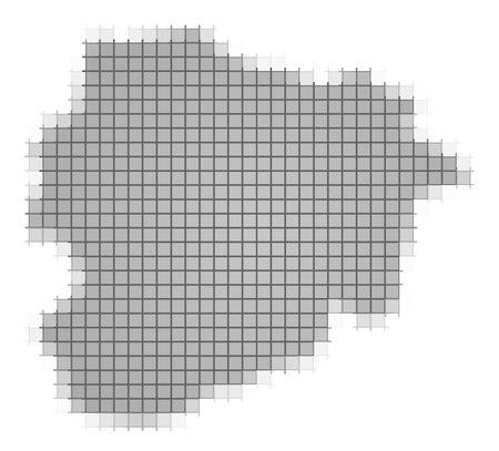 fill: Andorra map pixels mosaic. Easy to recolor.