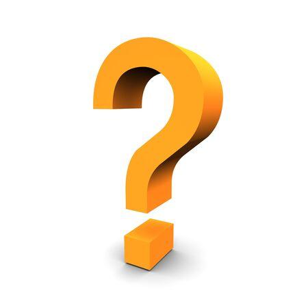 interrogation mark: Question symbol 3d rendered image