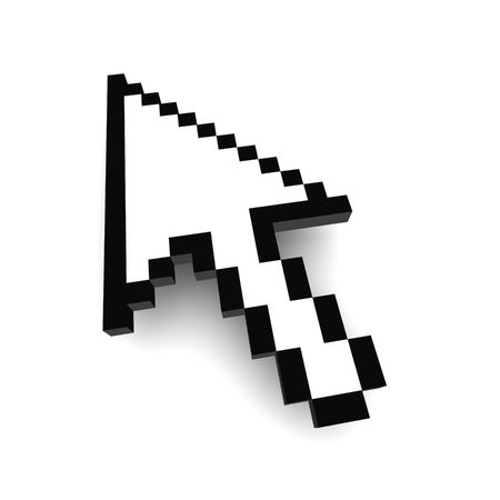Computer arrow cursor 3d rendered illustration illustration