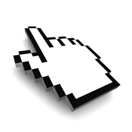 Computer hand cursor 3d rendered illustration Stock Illustration - 3668545