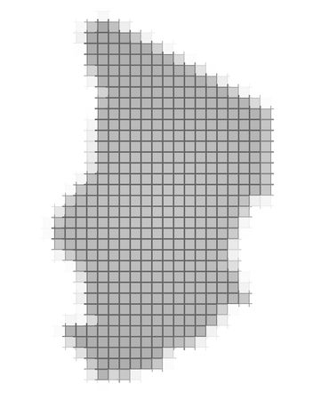 recolor: Chad map pixels mosaic. Easy to recolor.