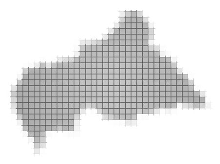 Central African Republic map pixels mosaic. Easy to recolor. photo