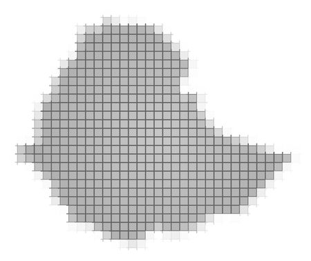 recolor: Ethiopia map pixels mosaic. Easy to recolor. Stock Photo