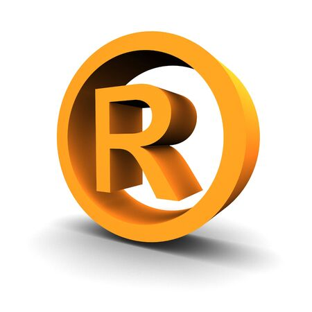 trademark: Trademark symbol 3d rendered image