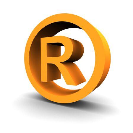 Trademark symbol 3d rendered image Stok Fotoğraf - 3702307